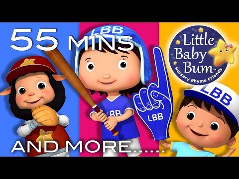 Download Youtube: Take Me Out To The Ball Game | Plus Lots More Nursery Rhymes | 55 Mins Compilation by LittleBabyBum!