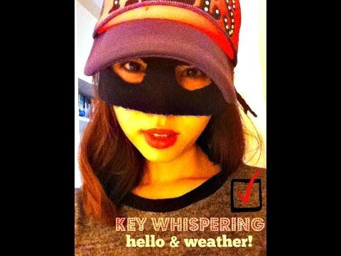 Asian girl - Weather talk - ASMR