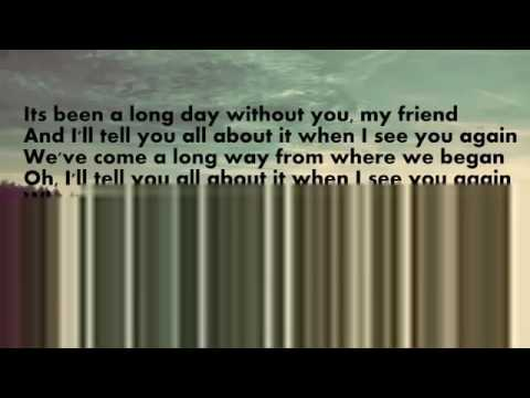 See You Again-Wiz Khalifa Lyrics (Download mp3)
