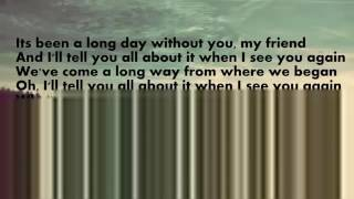 See You Again-Wiz Khalifa Lyrics (Download mp3)