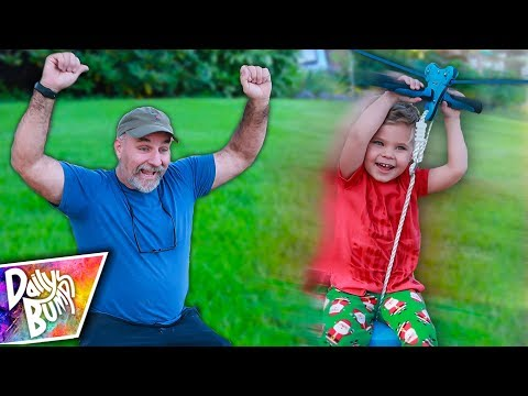 Backyard Zip-Line Adventure! ⚡️ Opening Christmas Toys!