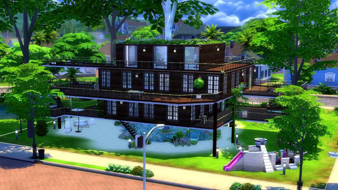 Urban treehouse sims 4 houses - Sims 4 Casa Na Rvore Sims 4 Treehouse Time Lapse