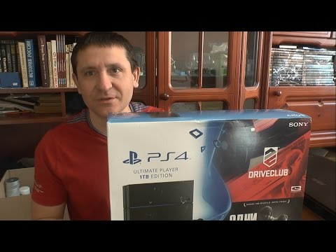 Unboxing Sony Playstation 4, 1TB (Игры The Last Of Us + Driveclub)