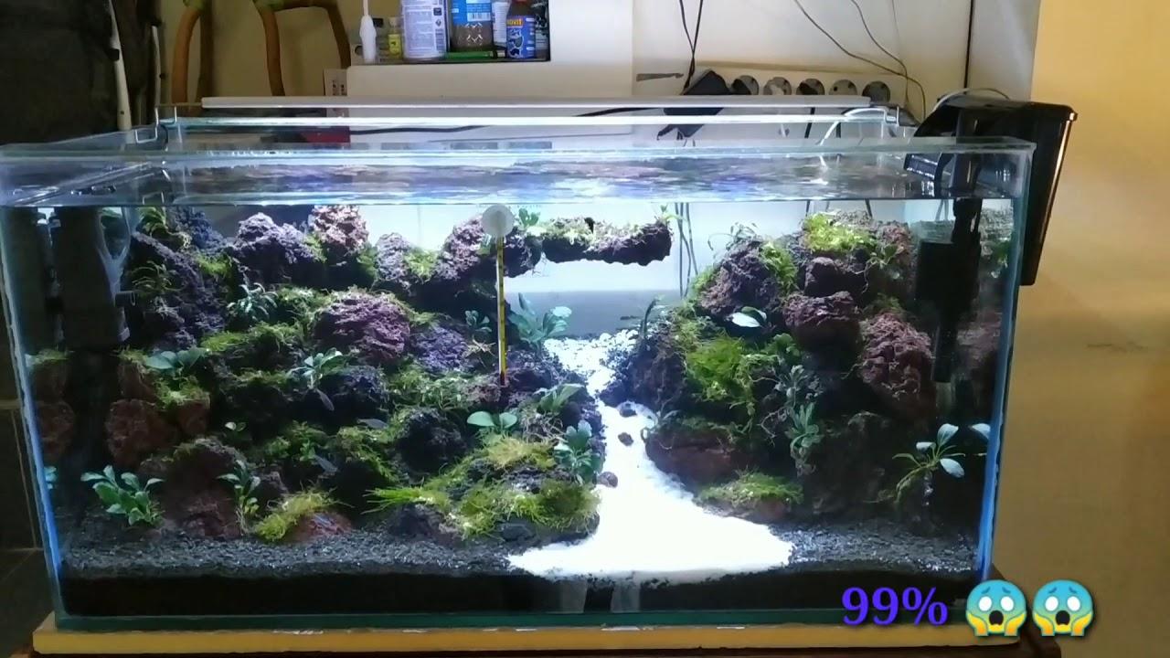 Mountain Style Lava Rock Stone Aquascape Pemula Tank 80cm 04 Youtube