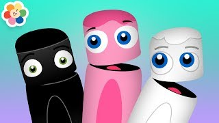 Color Collection 7: Black, White, Pink | Color Learning Videos for Kids | Color Crew | BabyFirst