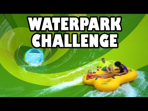 Water Park Challenge at Aquatica with Giant Water Slides. To