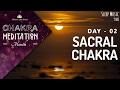 Chakra Sleep Meditation Music | SACRAL CHAKRA MEDITATION Balancing & Healing Music | CMM - 02