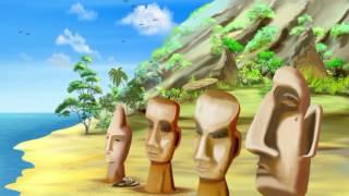 Чудеса світу тітоньки Сови - Статуї острова Пасхи (Уроки тетушки Совы) серия 7