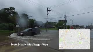 Flooding from Harvey - Brays Bayou - Houston Texas August 27 2017