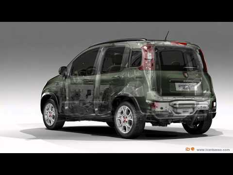 fiat panda 4x4 2012 radiografia 3d youtube. Black Bedroom Furniture Sets. Home Design Ideas