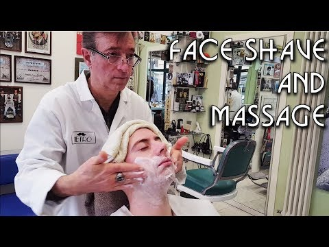 💈 Italian Barber Shop Da Pietro - Face Shave and Massage - ASMR no talking