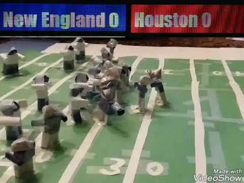 Patriots VS Texans Paper Stop Motion Highlights