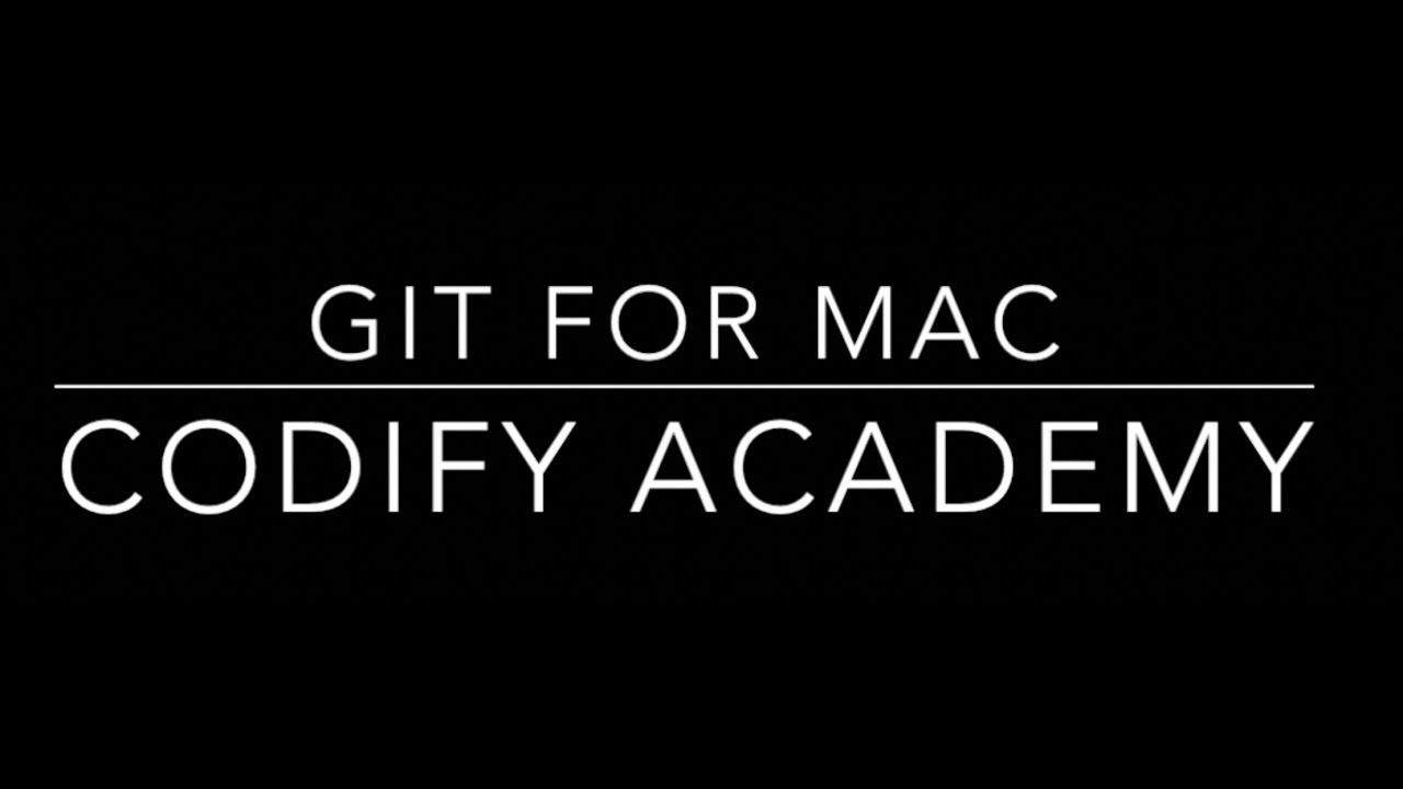 How to install and configure Git for MAC OS