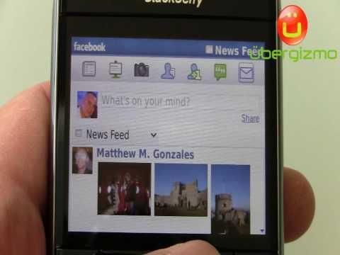 Blackberry Bold 9700 Facebook App in action