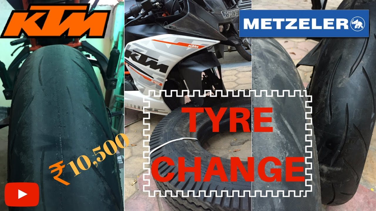 ktm rc 390 | tyre change | metzelers | ₹10,500 a pair | w rated