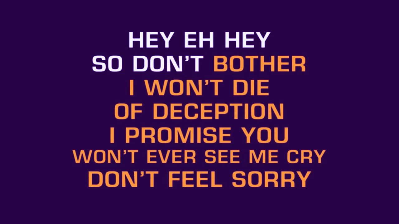 Download Shakira - Don't bother (official instrumental karaoke with lyrics on screen)