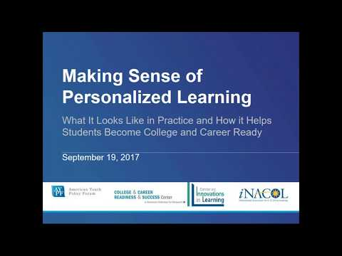 Making Sense of Personalized Learning - What It Looks Like and How it Helps Students