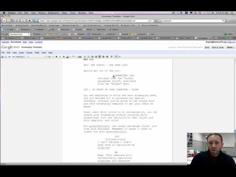 Using The Google Docs Screenplay Template