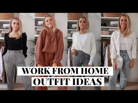6 WORK FROM HOME OUTFIT IDEAS | SPRING WFH OUTFITS LOOKBOOK| Copper Garden - YouTube