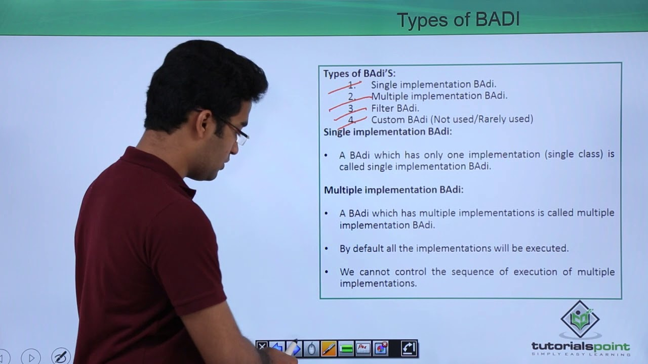 SAP ABAP - BADI Types & Properties