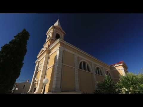 Croatia Island of Pag sights the Town of Novalja Parish Church of St. Catherine