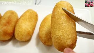 BÁNH CHUỐI CHIÊN GIÒN - Cách làm Bánh Khoai Mì bọc Chuối chiên giòn rụm by Vanh Khuyen