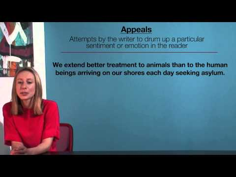 VCE English - Appeals (Language Analysis)