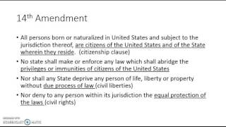 14th amendment and Selective Incorporation