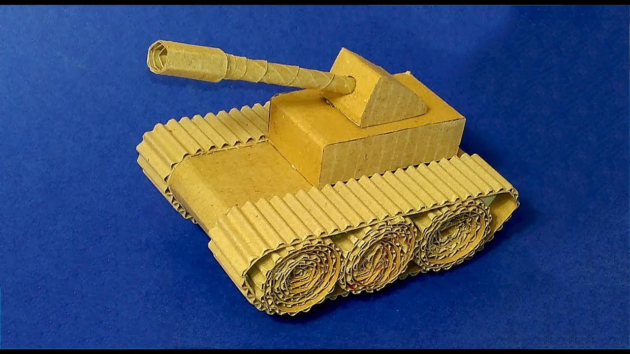 easy paper tank how to make tank with cardboard youtube