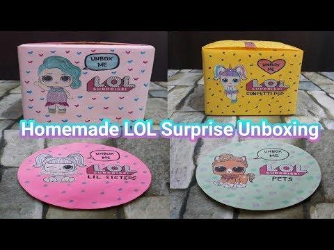 Homemade LOL Surprise Unboxing Compilation | DIY LOL Surprise