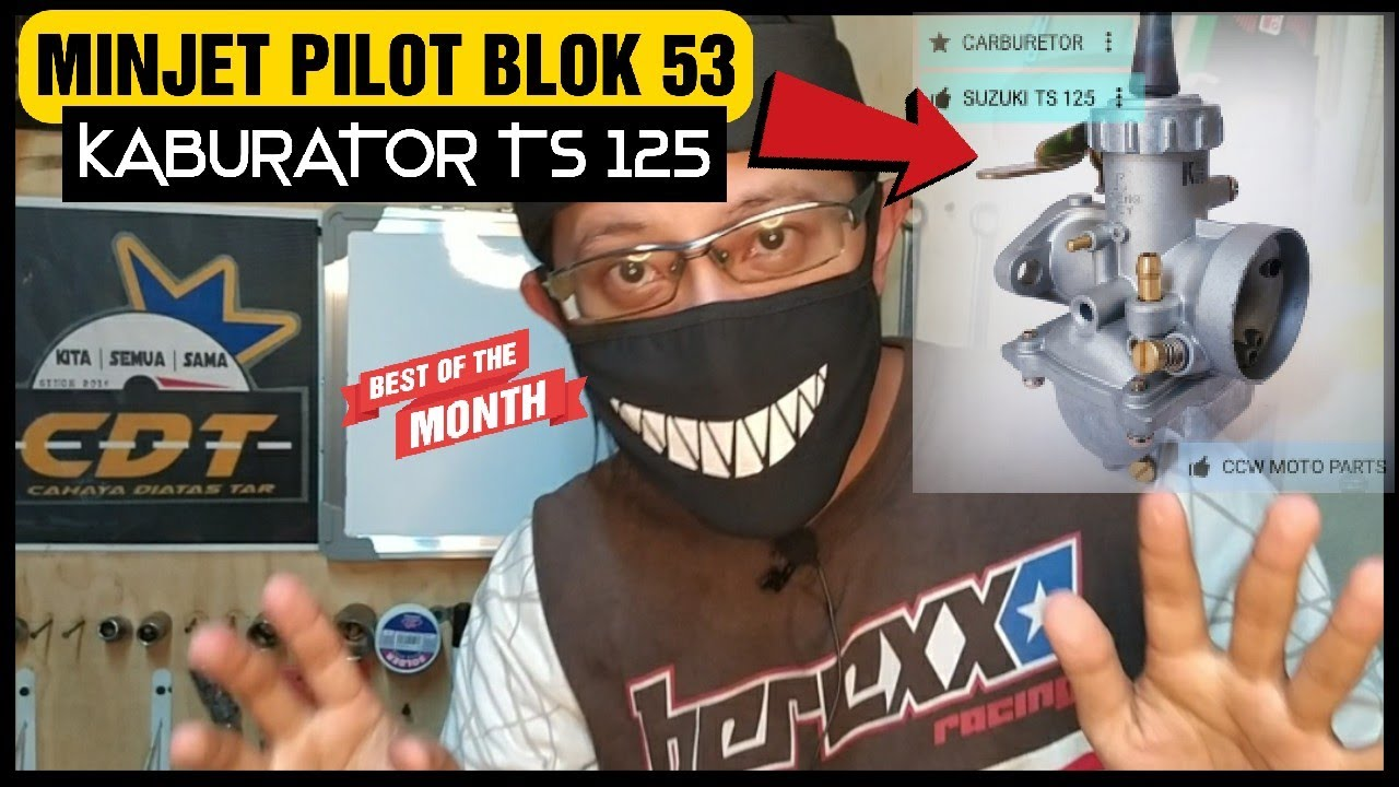 EX5 TOP SPEED CARA PILIH MINJET PILOT UNTUK KABURATOR JENIS TS 125 | BLOK 53MM