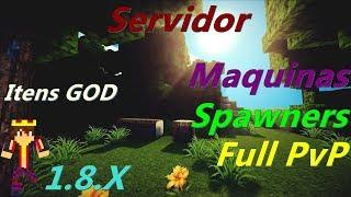 SERVIDOR DE RANKUP 1.8x SPAWNERS / ITENS GOD / PIRATA E ORIGINAL / Maquinas