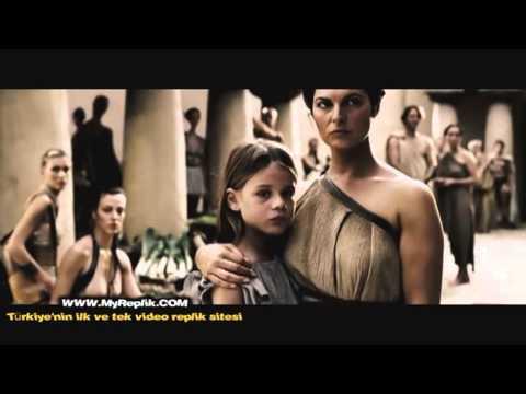 300 Spartalı ~ Leonidas'ın pers elçisini kuyuya attığı sahne