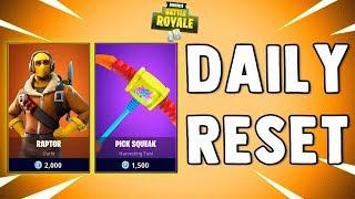 RAPTOR SKIN & PICK SQUEAK - Fortnite Daily Reset & New Items in Item Shop