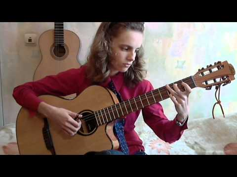 (The Animals) House Of The Rising Sun - Alina Vlasova fingerstyle guitar solo