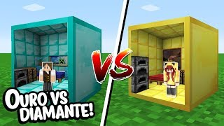 Minecraft: CASA DENTRO DO BLOCO DE DIAMANTE VS CASA DENTRO DO BLOCO DE OURO!