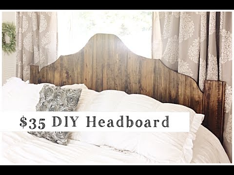 DIY HEADBOARD  | $35 Rustic Wood Headboard Tutorial | DIY Project
