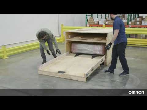 OMRON HD-1500 Tutorial 4: Unboxing the HD-1500 autonomous mobile robot for heavy loads