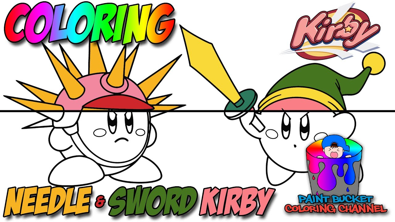 Coloring Kirby Sword Kirby and