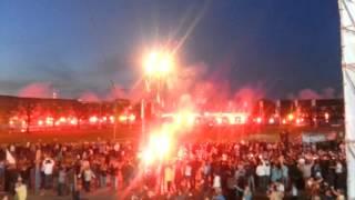 Фантастическое файер-шоу фанатов на юбилее Зенита