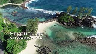 インド洋セーシェル共和国マヘ島ドローン空撮