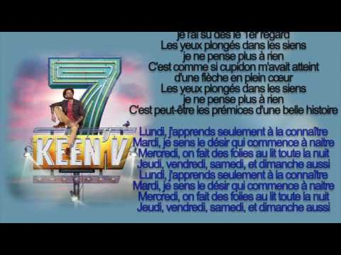 keen'v -  une semaine avec elle ( officiel video lyrics )