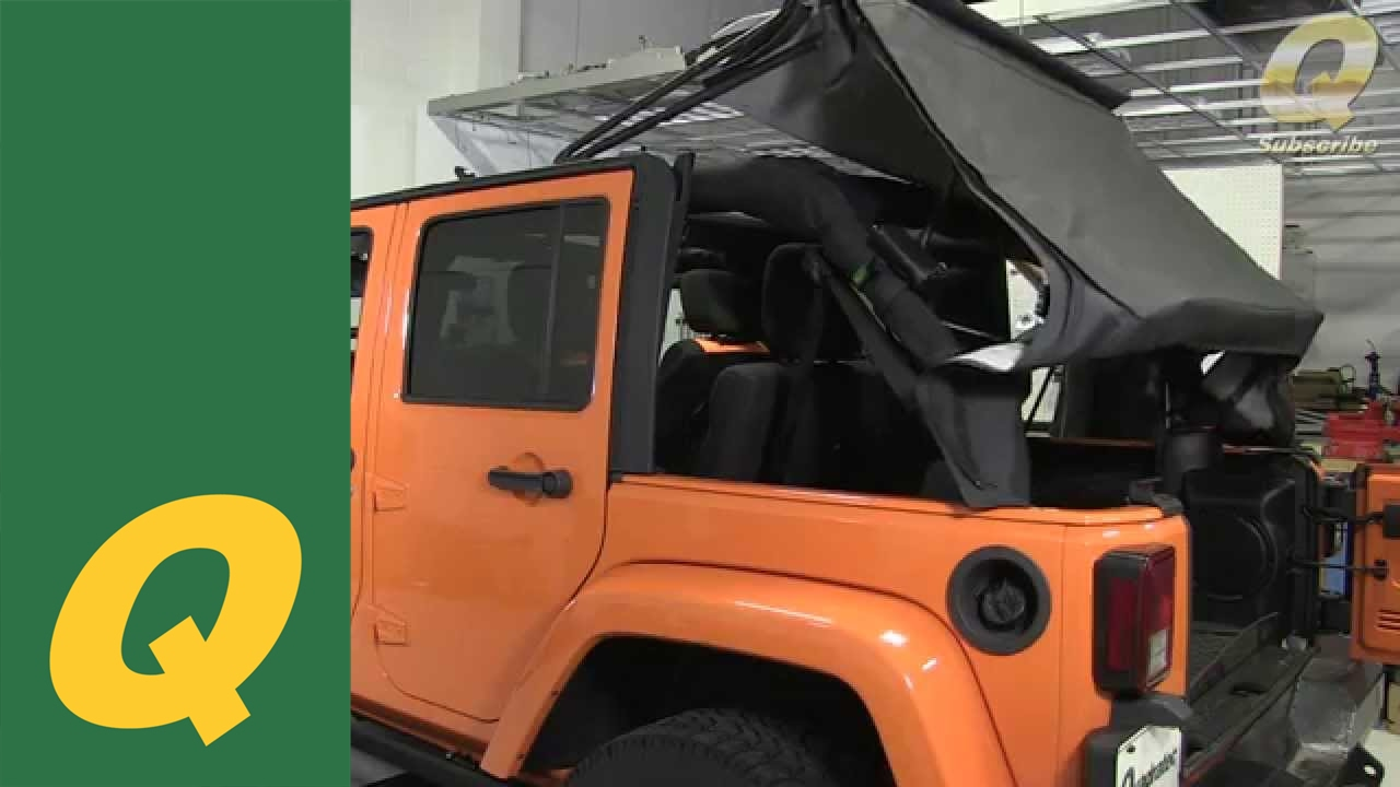 Quadratec Replacement Soft Top on Jeep Wrangler JKU 2010 and Up