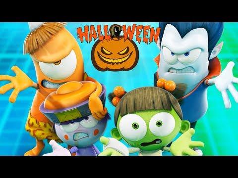 Funny Animated Cartoon   Spookiz   🎃 👻 Halloween Party 👻 🎃   스푸키즈    Cartoon For Children