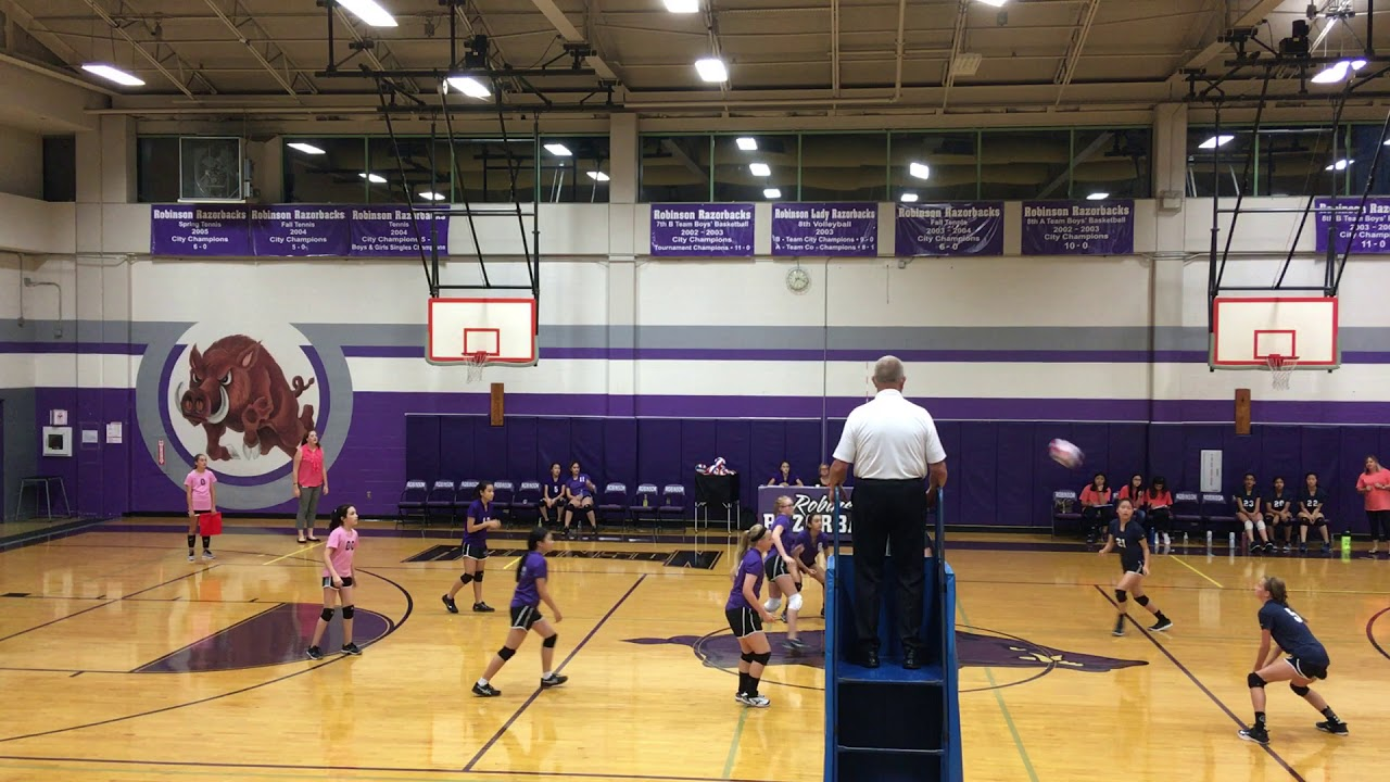 Robinson Middle School (plano) v Rice 7th Volleyball 9/28/17 G1-2
