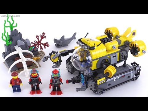 Lego City Deep Sea Submarine Review Set 60092 Youtube