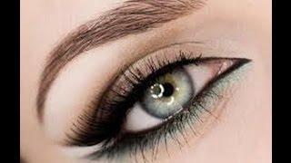 видео Как сделать праздничный макияж для каре: вариант для зеленых глаз