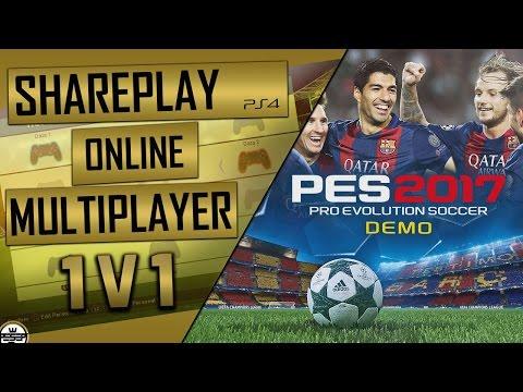 PES 2017 DEMO SHAREPLAY PS4 - PES17 DEMO Multiplayer 1 v1