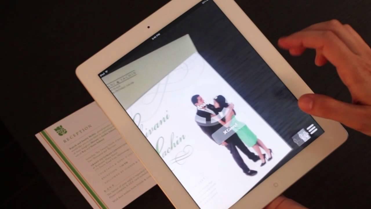 Augmented reality wedding invitation youtube augmented reality wedding invitation stopboris Gallery