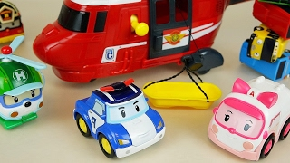 Robocar Poli Tayo bus car toys Helicopter rescue